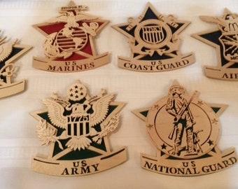 Military Emblems - Army, Navy, Marine, Air Force, Coast Guard, National Guard
