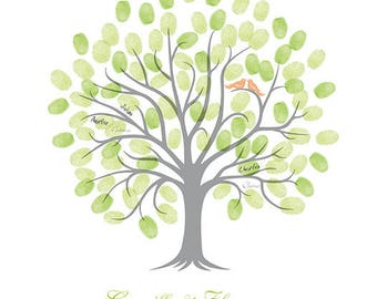 Fingerprint wedding tree / A2 420x594mm / 50-80 signatures