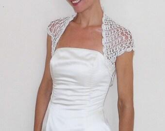 Weddings Shrugs Boleros Weddings Bridal Accessories lace crochet ivory shrug