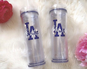 Personalized LA Dodgers Slim Tumbler