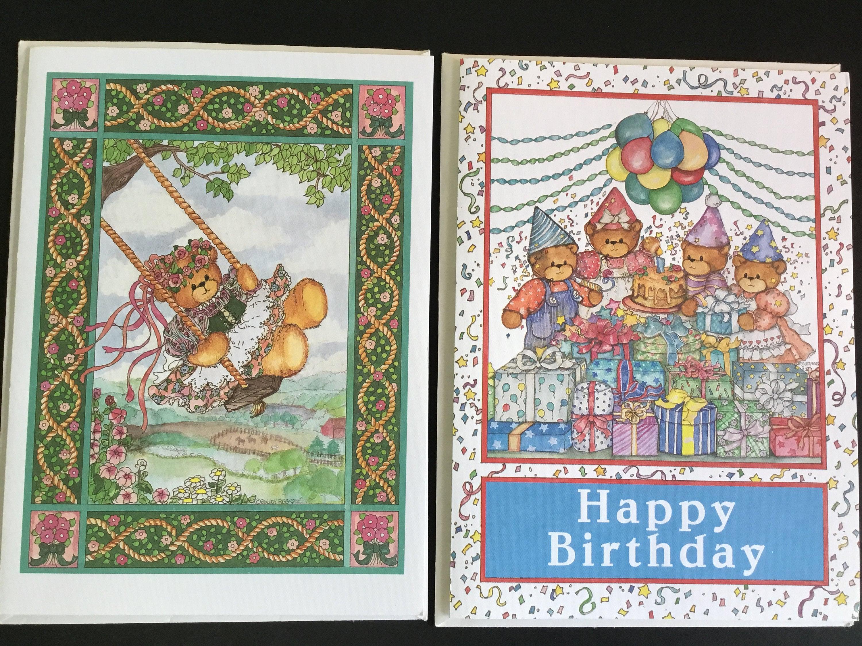 Vintage unused lucy me birthday greeting cards set of 2 zoom m4hsunfo