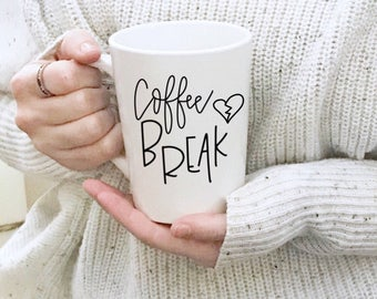Coffee Break Mug | Coffee Mug | Coffee Cup | Handmade Ceramic Mug | Handmade Mug | Big Coffee Cup | Big Coffee Mug | Large Mug | Coffee Mugs