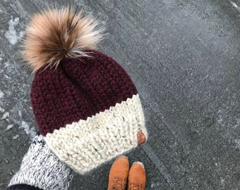 The WILLOW Beanie, knit toque, cozy wool