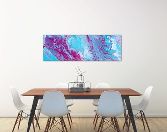 Cotton Candy Sky  |  Acrylic Painting  |  Abstract Art