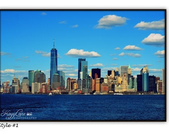 New York City Skyline Black Framed Wall Art Photography