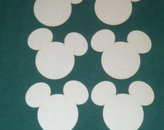Mickey Mouse  unfinished cutouts (6 pieces)