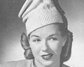 Vintage 1940s Checchia Hat Crochet Pattern PDF 4606
