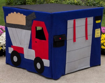 Felt Card Table Playhouse,  Construction Site, Personalized, Custom Order