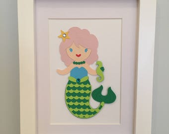 Framed Paper Doll - Mermaid (5x7)