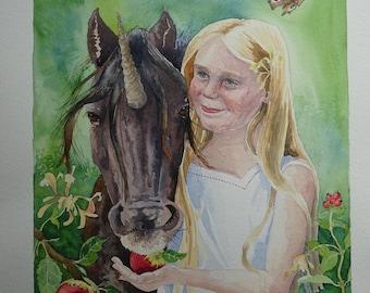 Childhood Dreams, original painting, approx 36cm x 30 cm