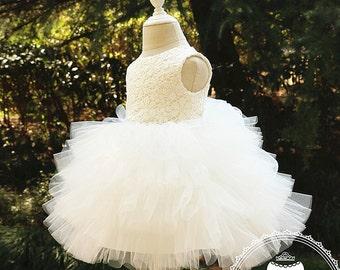 Baby Girl Birthday Dress, Newborn Girl Dress, Birthday Dress 1 Year Old, Baby Girl Dress for Wedding, PD017-1