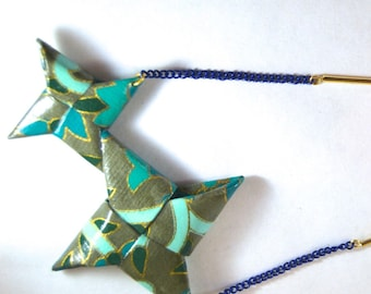 Origami stars EBIT 場合 Constellation necklace