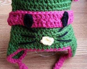 Hybrid Ninja Kitty Turtle Hat