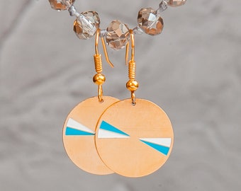 Everyday gold round earrings, minimal gold earrings, gold disc earrings, classic gold earrings, round gold earrings