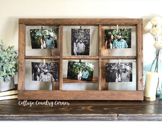 Thick Window Frame For Pictures - Picture Frame Window - Window - Rustic Window - Antique Window Frame - Wall Decor - Home Decor - Mante