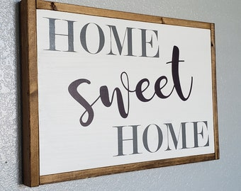 Home Sweet Home, wood sign, home decor