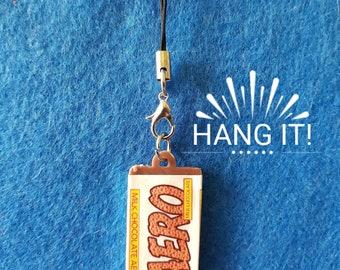 Handmade Plastic Milk Chocolate Aero Bar Phone/Zip/Bag Charm. Chocoholic Kitsch Retro Fun and Quirky