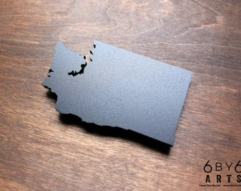 Washington State Chalkboard Magnet | Small Chalkboard | State Shapes | Gifts From Home | Pacific Northwest | Cascadia