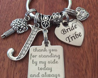 BRIDE TRIBE Gifts, Bridesmaid Tribe Gifts, Personalized Bridesmaid Gift, Bride Tribe, Wedding Keepsake Gifts, Personalized Bride Tribe