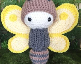 """Amigurumi Butterfly """"Bella"""" Crochet Doll"""