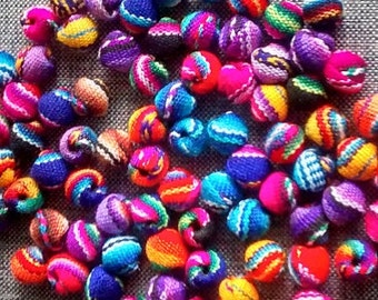FREE SHIPPING manta beads - jewerly beads  - peruvian fabric -50  boho beads