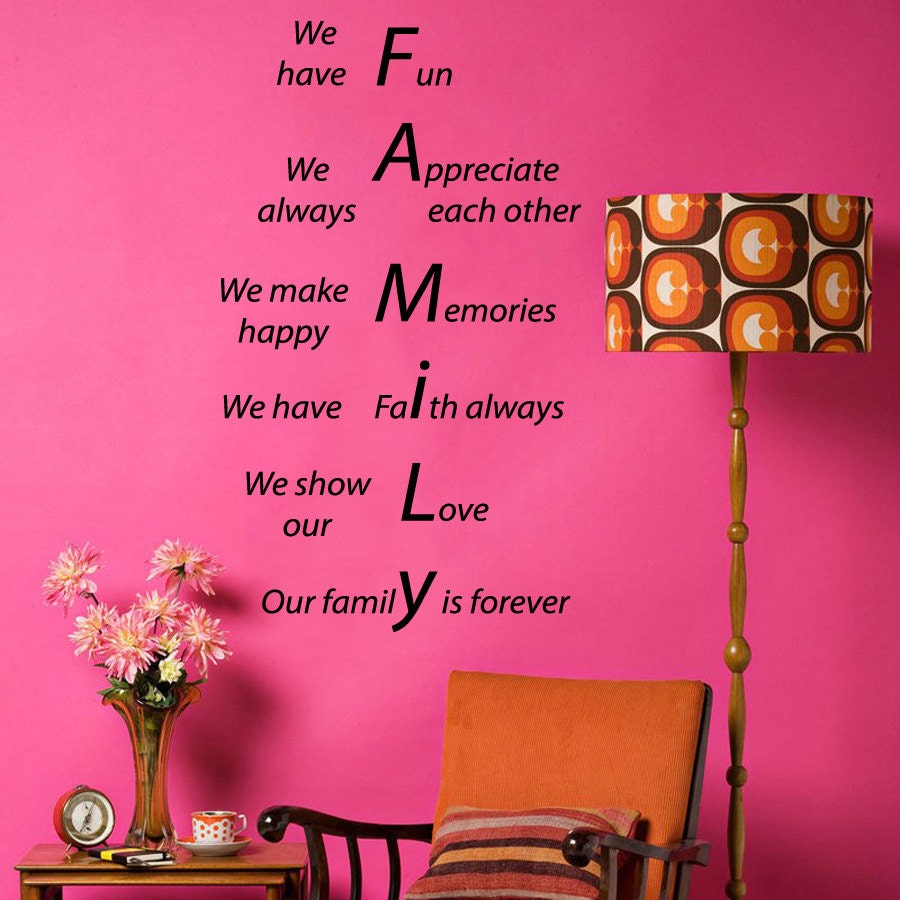 Family Is Forever Quotes Family Forever Wall Decals Quote We Show Our Love Make
