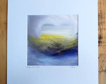 Awash with Love, Art, Print, Mounted Print, surf, blue, love, gift