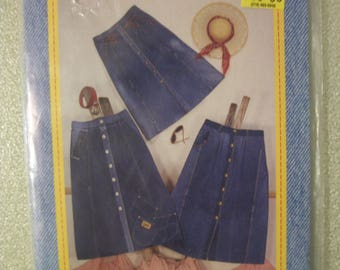 Junk Jeans Skirt-Savvy Sizes S to 3X