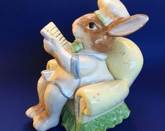 Kaldun and Bogle Bunny Rabbit Vintage Pottery Canister Cookie Jar
