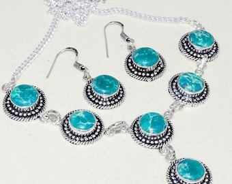 Turquoise Handmade Necklace+Earring