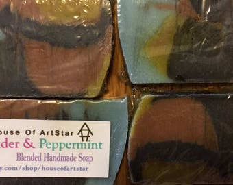 Lavender + Peppermint Shea Soap