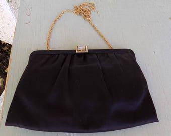 Vintage black evening purse