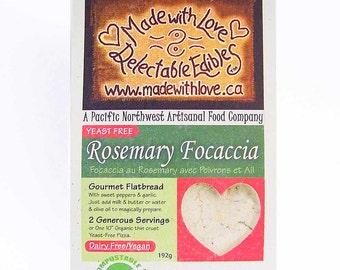 Rosemary Focaccia Artisan Bread Mix - Sweet Peppers & Garlic  - Organic DIY Flat Bread Mix - Food Market  - Organic Magic Pizza Crust Mix