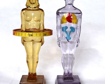 """6.5"""" tall Medical Model Figurines - 1958 - Merck - Diuril - with one original box"""