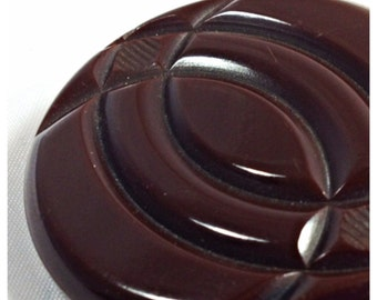 Chunky Bakelite Coat Button, Vintage Bakelite Button, Extra large Coat Button, Button item 9