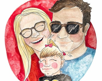 Custom Illustrated Portraits 9x12
