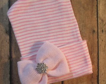 Newborn Hospital Hat, Baby Girl hat, Newborn Hat, Newborn Photo Hat, Newborn Baby Hospital Hat, Baby Girl Hospital Hat, Baby Keepsake