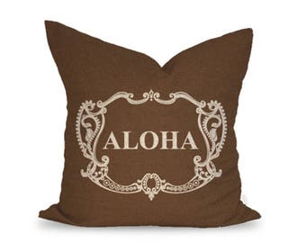 20x20in Aloha Crest Linen Pillow Cover