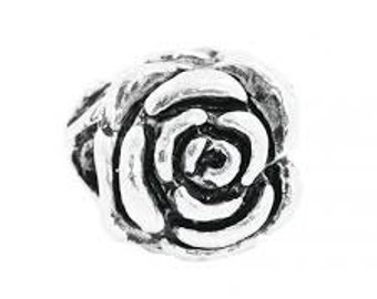 European Charm Bead For All Large Hole Charm Bracelet And Necklace Chain. Rose 8x10mm