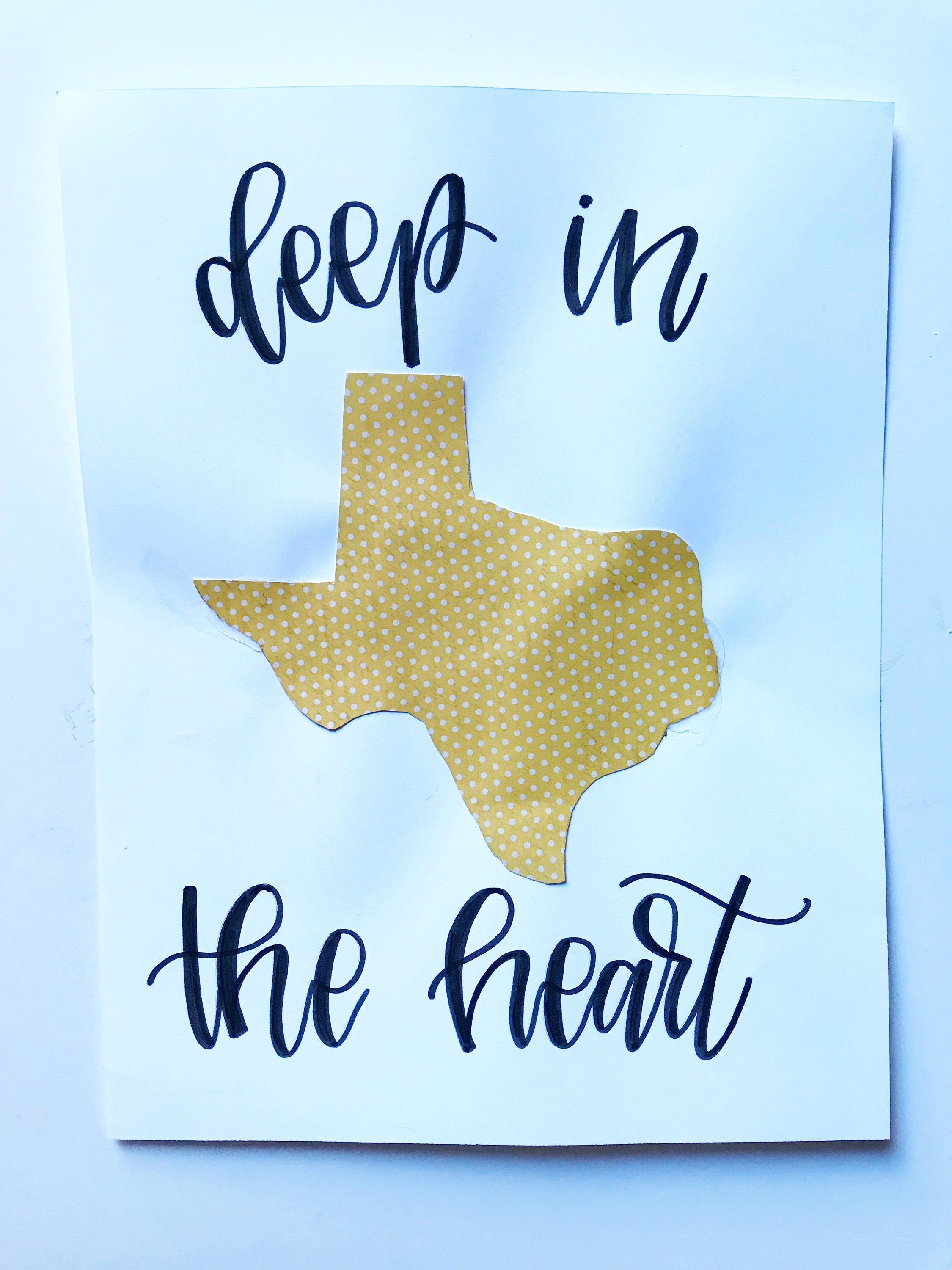 Deep in the heart Texas art original art collage mixed