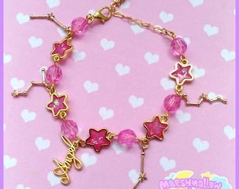 Constellation bracelet cute and kawaii lolita style pink