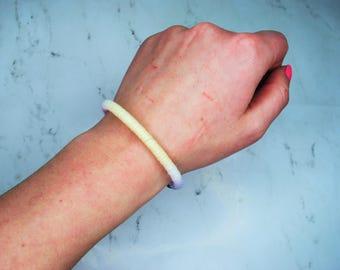 Yarn Wrapped Bangle Bracelet | The Pastel Bangle | Regular | Pink & Blue | Handmade