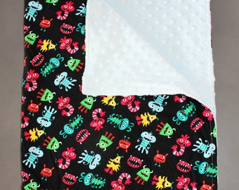 Monsters Baby Toddler Child Minky Blanket / Boy Blanket / Minky Blanket / Baby Blanket / Baby Shower Gift / New Baby Gift / Monster
