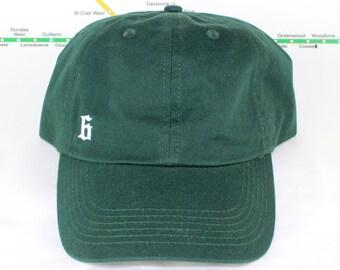 "Low Key ""The 6"" Kelly Green Dad Hats! Minimalist, 90's Era, YYZ, GTA, Toronto, Etobicoke, York, North York, East York, Scarborough, 6ix Side"