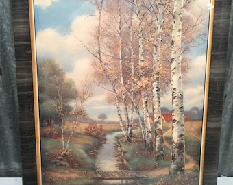 F.S Burgy Woods Painting