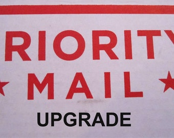 PRIORITY MAIL UPGRADE - For United States Shipments Only
