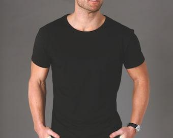 Men's Bamboo Tee Shirt - Classic Black
