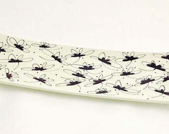Platter. Dragonfly Narrow Platter. Dragonfly. Housewarming. Wedding. Handmade by Sara Hunter Designs.