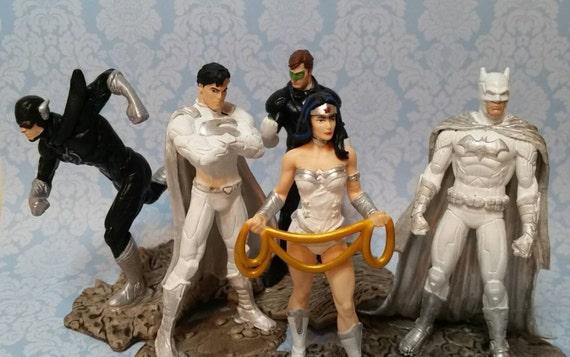 Pair Of Superhero Wedding Cake Toppers Comic Book Wedding - Comic Book Wedding Cake