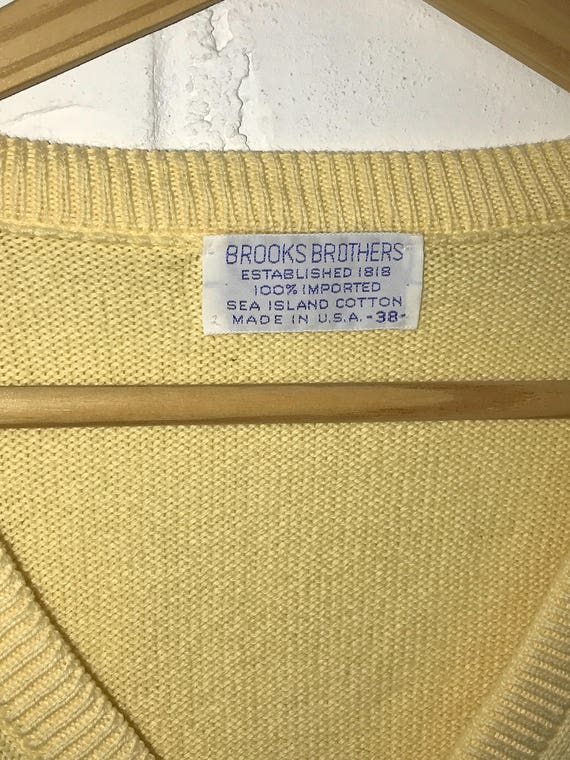 Vintage 1980's Yellow Pullover / size 38 / Brooks Brothers ZBz6mPXpfr